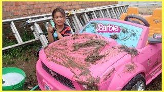 Sam Car Wash Barbie Ride-on Power Wheels!!!