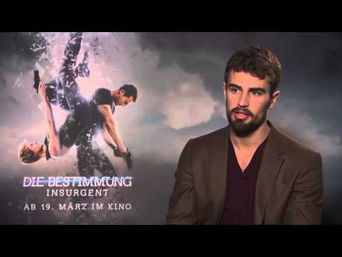 Theo James wears beard NEW Interview for INSURGENT + ALLEGIANT