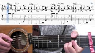 Free Fallin' -John Mayer guitar tabs(How to play)
