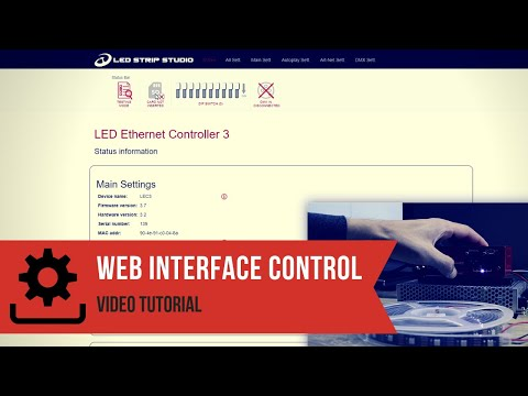 Web Interface - LED Software