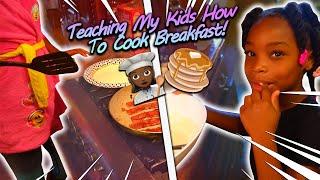 Teaching My Kids How To Cook Breakfast!
