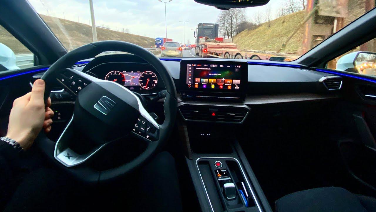 Seat Leon IV 2020 1.5 eTSI 150 HP   Test Drive #13   POV ...