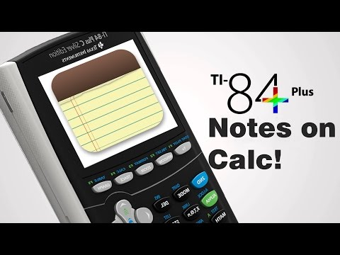Put notes on TI 84 Plus C Silver Edition! (2017)