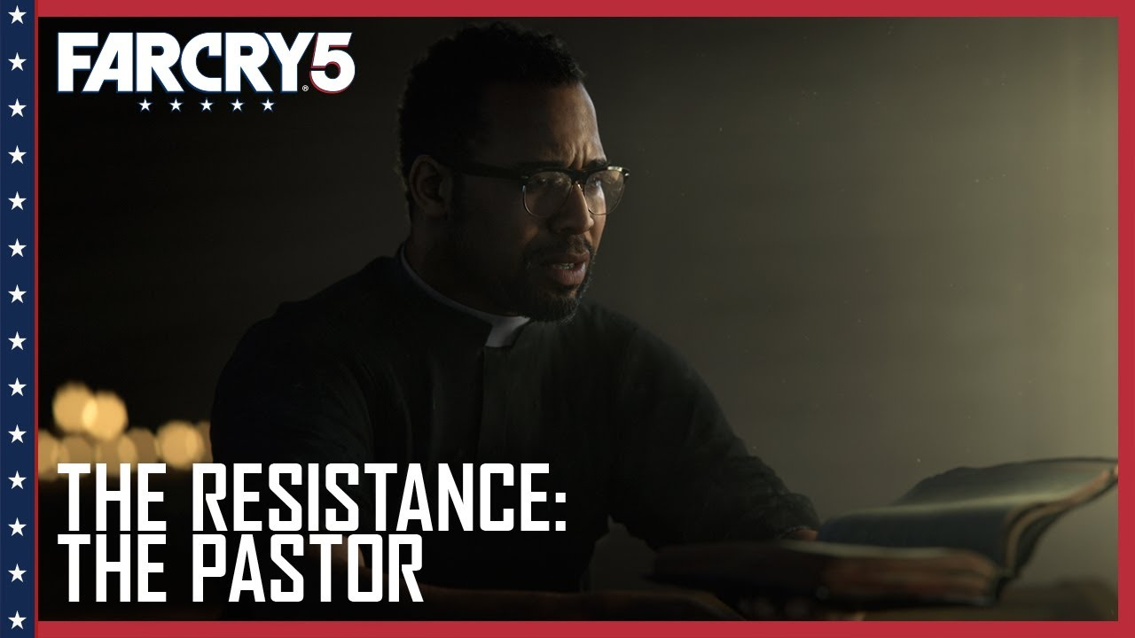 Far Cry 5 Official The Resistance Pastor Jerome Jeffries Trailer Ubisoft Na Youtube