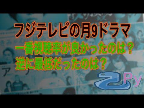 フジテレビの月9ドラマの視最高聴率と最低視聴率は?!