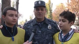 Ճանապարհային ոստիկանների և աշակերտների հերթական միջոցառումը