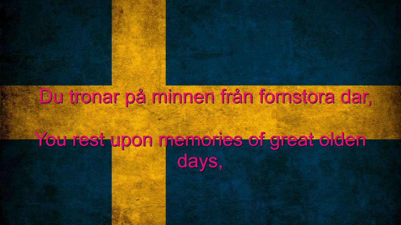 sweden national anthem english lyrics youtube