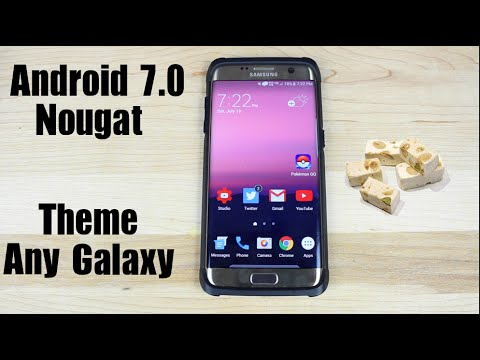 android 7 0 nougat samsung galaxy s7 s7 edge theme youtube. Black Bedroom Furniture Sets. Home Design Ideas