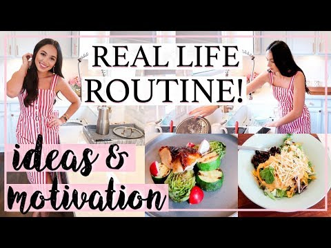 REALISTIC COOK AND CLEAN WITH ME | WHAT I EAT IN A WEEK DAY! | Alexandra Beuter