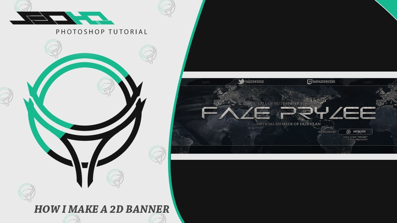 Photoshop Tutorial | How I Make a 2D Clean Banner Layout | W ...
