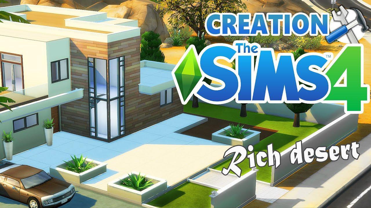 Rich desert construction sims 4 youtube for Maison prefabriquee sims 4