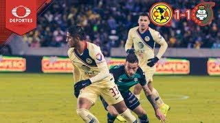 Resumen América 1 - 1 Santos | Partido Amistoso | Televisa Deportes