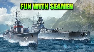 The Most Fun You Can Have With Seamen - World Of Warships Mutsuki Highlights
