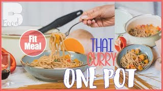Thai Curry Spaghetti One Pot - Einfach und schnell - vegan