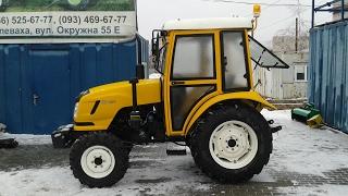Купить Трактор DongFeng-404С (ДонгФенг-404К) с кабиной желтый minitrak.com.ua
