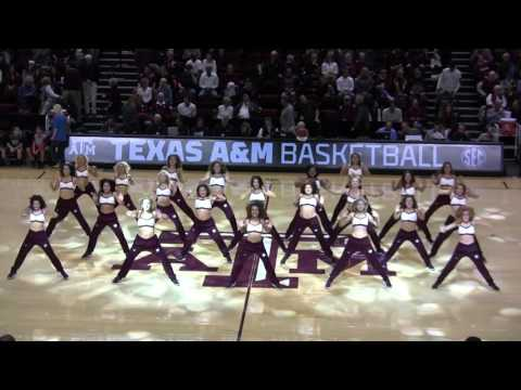 Texas A&M Aggie Dance Team 2015-2016 - Men's Basketball vs Arkansas Jan 2