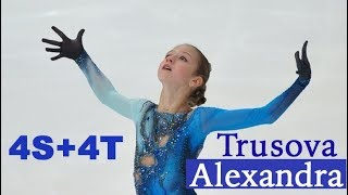 Alexandra Trusova - RUS - FS 2018 World Junior Championship / Александра Трусова QUAD Sal & Toe Loop