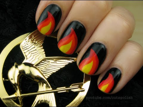 Hunger Games Nail Art Youtube