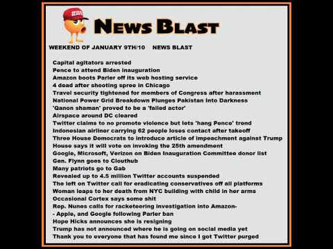 Weekend of January 9 /10,  2020 News Blast. #NBR #NewsBlastReadings #Enoch