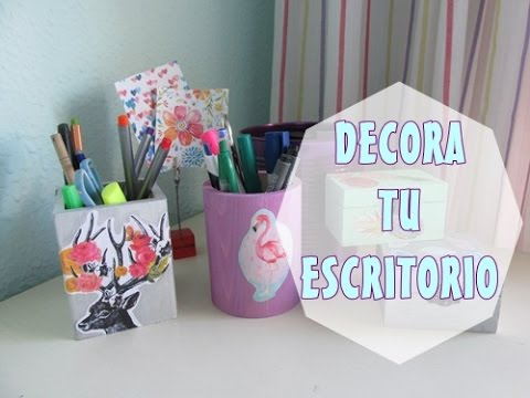 Decora tu escritorio diy youtube for Como decorar tu escritorio de oficina