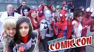 SPIDER-MAN, SPIDER-GWEN, SILK SPIDERVERSE VS New York Comic Con 2016 - Real Life Super Hero Movie