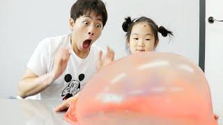풍선 슬라임 만들기 놀이 Making Slime with Funny Balloons- 마슈토이 Mashu ToysReview