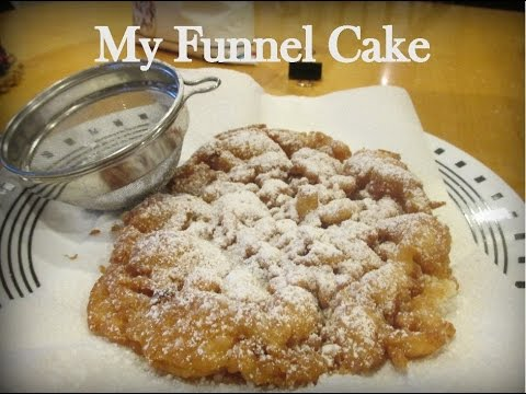 how to make homemade funnel cakes out of pancake mix