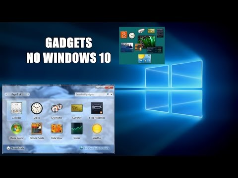 COMO INSTALAR GADGETS NO WINDOWS 10 (SERVE PARA QUALQUER WINDOWS)