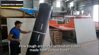 Carbon Tech Mining: Ventilation tubes from carbon fibre
