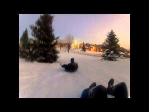 Sledding in Great Falls Montana