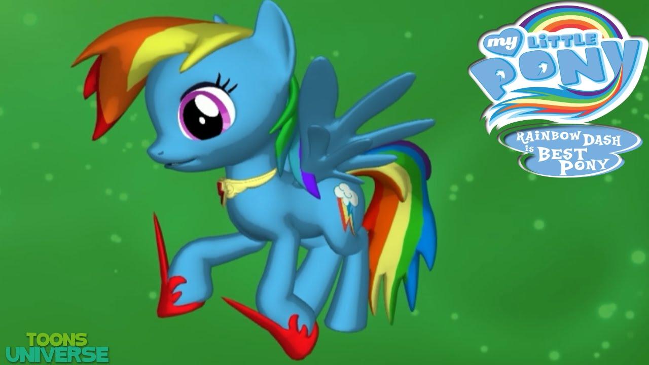 rainbow dash 3d pony