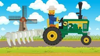 Lego Tractor For Kids | Farm work lego | Praca na farmie - Traktor Bajka