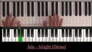 Jain - Alright (piano tutoriel)
