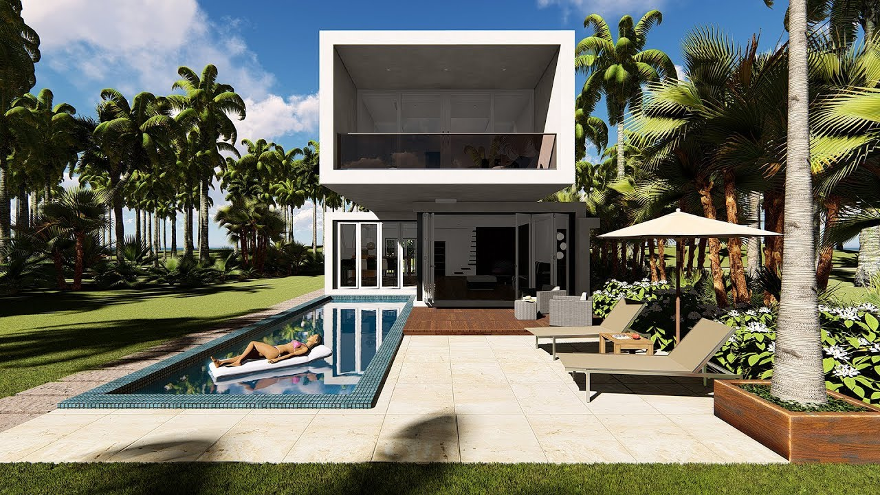 Lumion 8 pro render modern house3