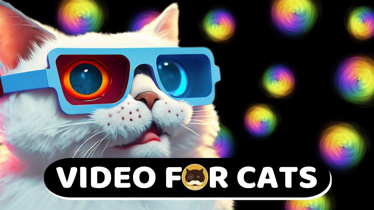 CAT GAMES - Rainbow Dots. Videos for Cats | CAT TV.
