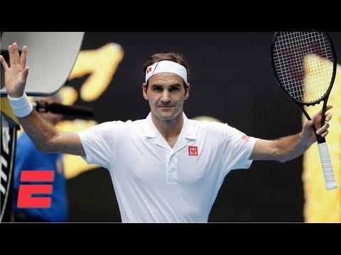 Roger Federer fends off Dan Evans in 2nd round | 2019 Australian Open Highlights