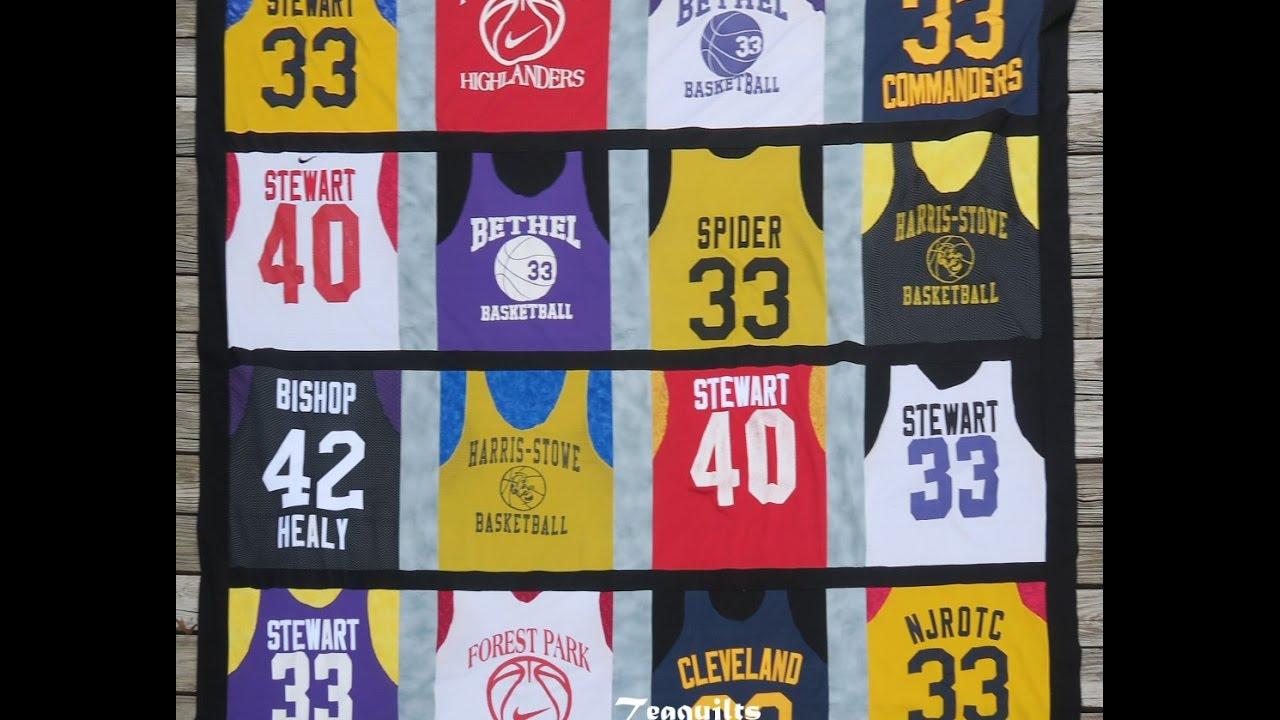 Quilt With Me: Basketball Jersey Quilt Part 2 - YouTube : jersey quilt - Adamdwight.com