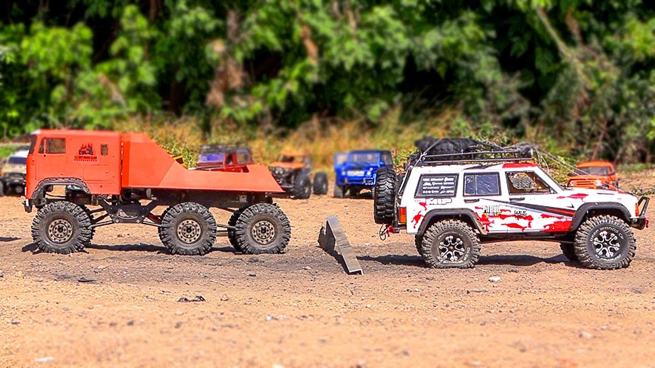 TUG of WAR – 16 RC Trucks Power Pulling | Wilimovich