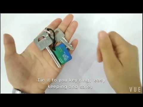 Waterproof RFID Epoxy Tag, Metal Ring, Elastic String, Easy to Take