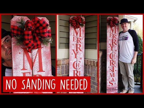 DIY Front Porch Merry Christmas Welcome Sign