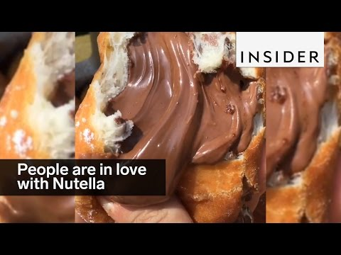 People all over the world are nuts about Nutella