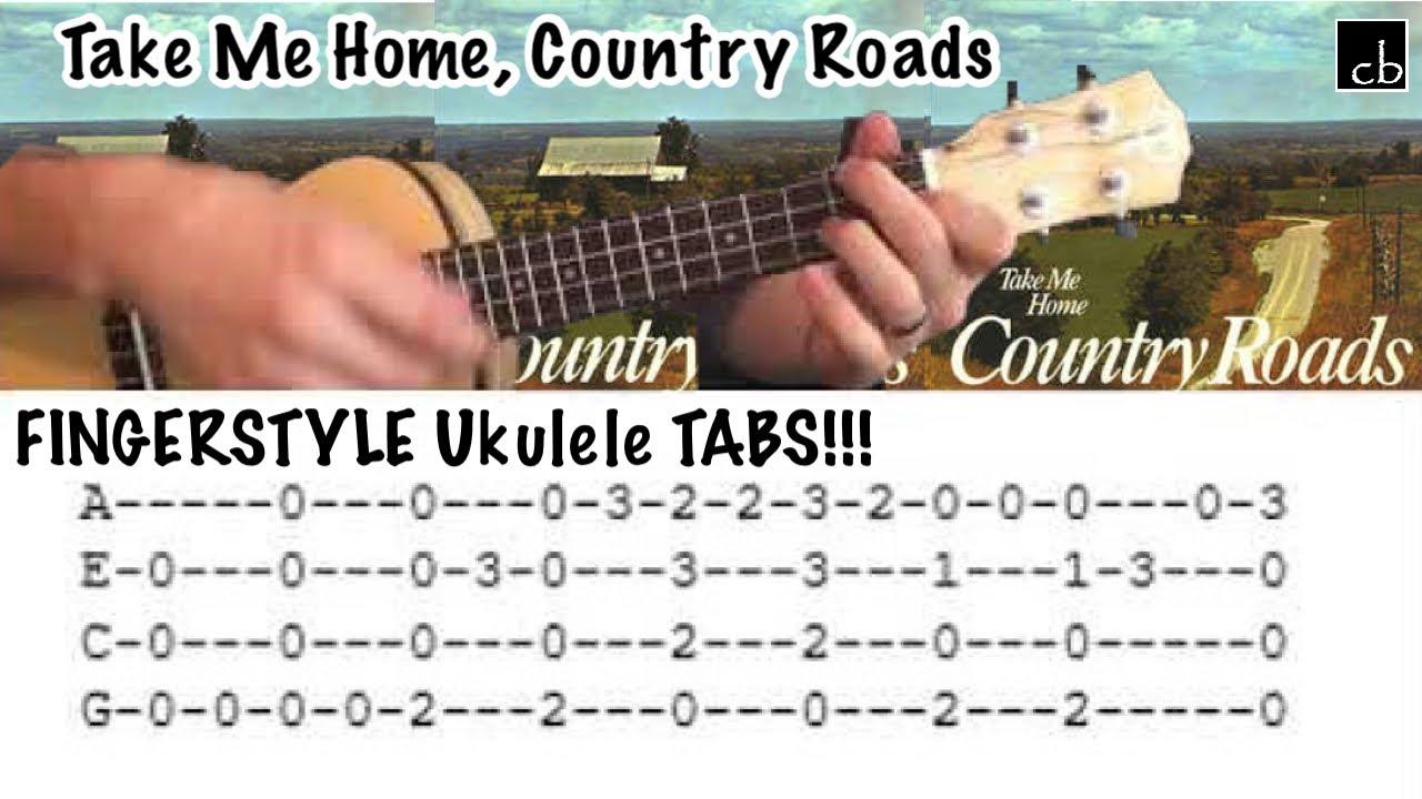 Take Me Home Country Roads John Denver Fingerstyle Ukulele
