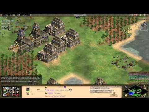 Aoe2 HD: FFA King of the Hill (Aztecs, Fortress)