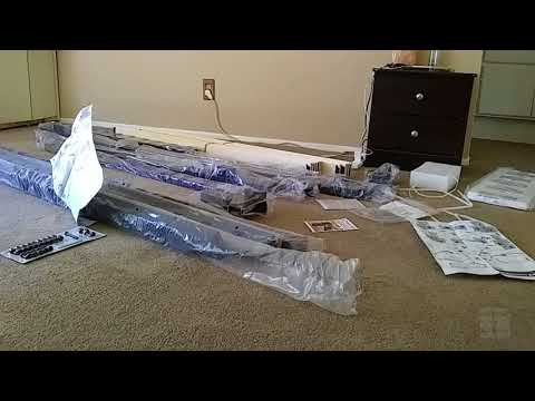 Zinus 10 inch Queen Size Metal Platform Bed 2000H Unboxing