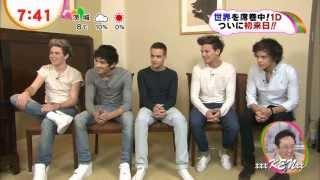 One Direction in Japan Tokyo News program 1D ② HD