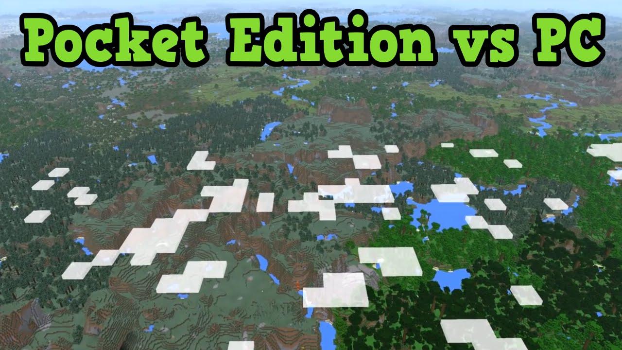 minecraft pocket edition vs pc 2017