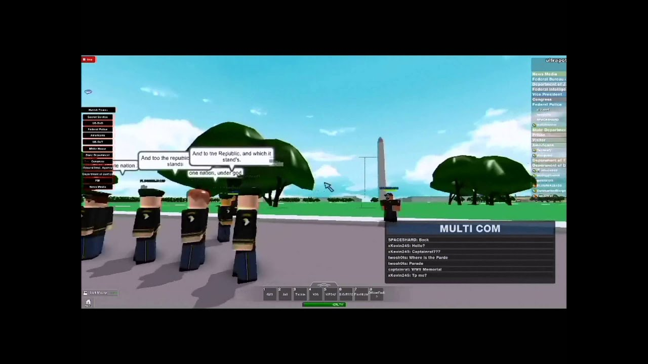 The United States Military Parade (D.C.) ROBLOX