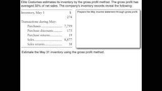 Inventory & Cost of Goods Sold - Gross Profit Method