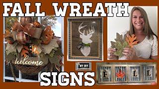 Fall Leaf Wreath | Fall Sign Ideas |  Dollar Tree DIY 🍁