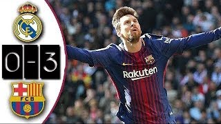 Real Madrid 0-3 Barcelona | Full Match | Partido Completo | ...